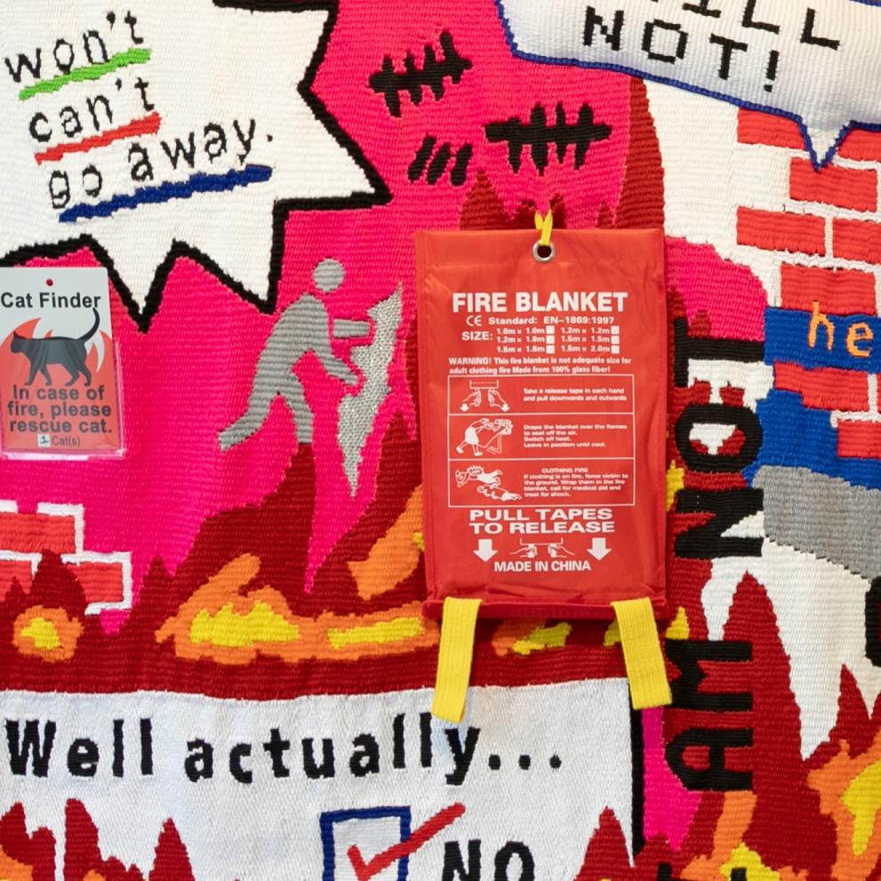 9. Kayla Mattes, ' I WILL NOT', handwoven, Photo K. Mattes